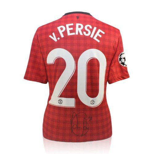 Robin van Persie Signed Manchester United Champions League Jersey by exclusivememorabilia.com. $319.99. This Manchester United jersey was personally signed by Robin van Persie at a closed signing session in Manchester on October 19, 2012. Van Persie joined the club for £24 million in August 2012 and instantly became a hit with the fans, scoring with his first shot, then netting a hat-trick against Southampton and scoring the winner against Liverpool. We have ...
