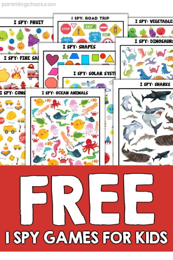 Free I Spy Games for Kids | I spy games, Spy games for ...