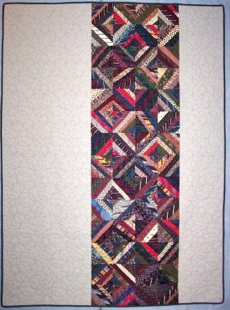 Lots of good info on Tie quilts, backing, thoughtful practice, and ... : silk tie quilts patterns - Adamdwight.com