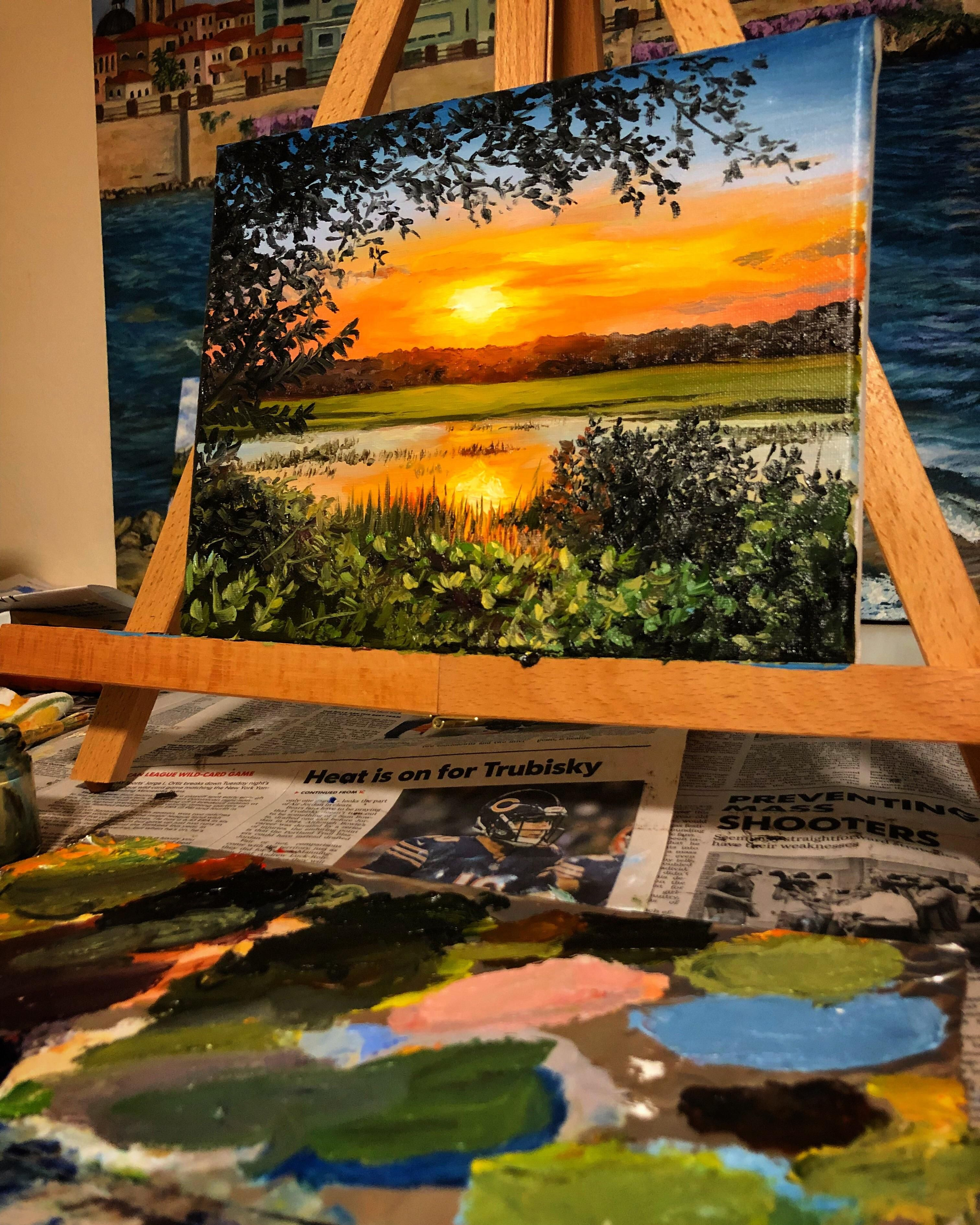 Pin By Fabiana Santa On Pintura Nature Art Painting Landscape Paintings Painting Art Projects