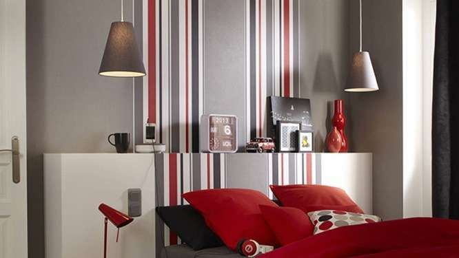 Chambre grise et rouge chambre garçon Pinterest