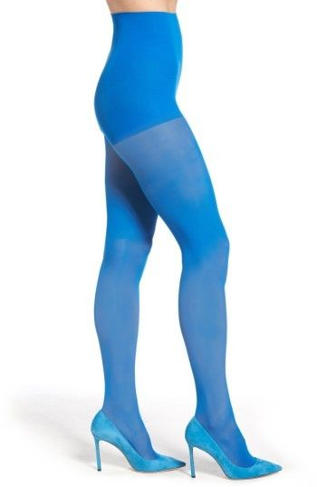 e36464df9 DKNY Women s Light Opaque Control Top Tights Blue Tights