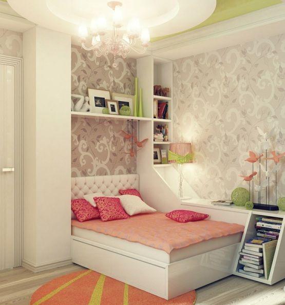 zart rosa mdchenzimmer wandtapeten - Rosa Schlafzimmer Gestalten