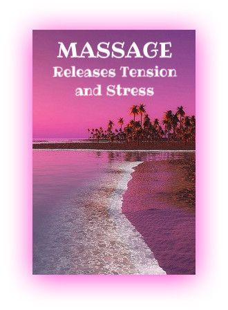 Massage releases tension and stress.