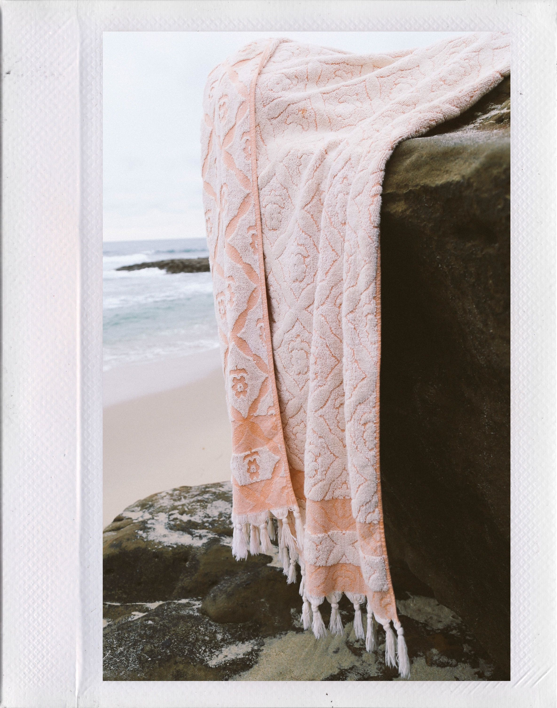 Haven Is A Lavishly Plush Extra Large Beach Towel With Deep Roots