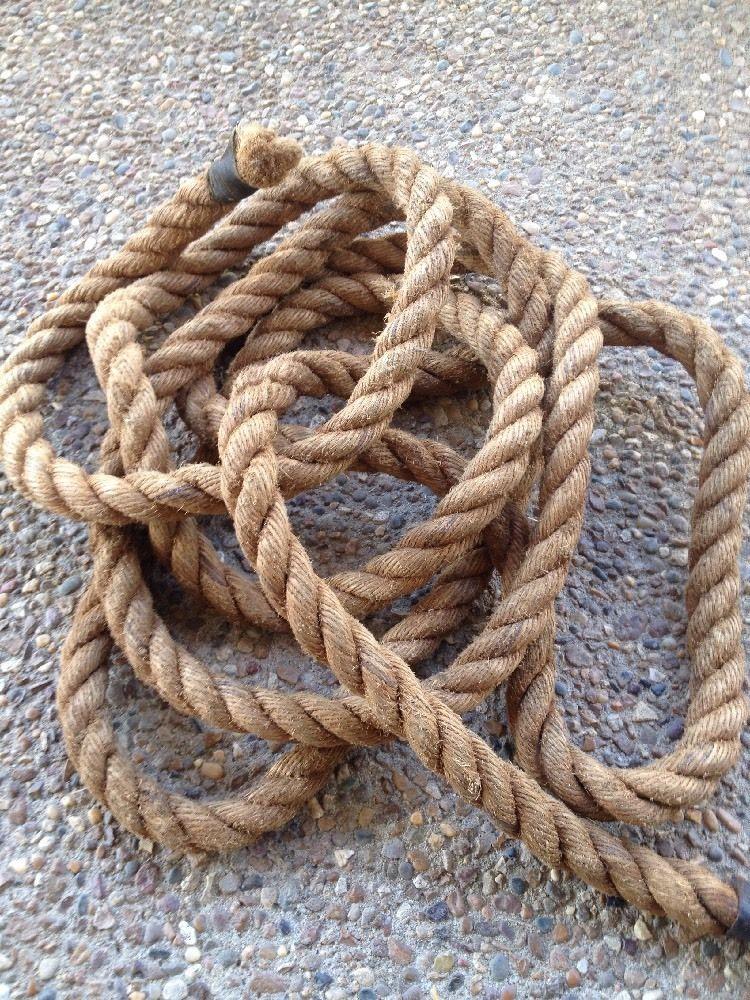 17 Ft Vintage Manila Rope 1 1 2 Inch Nautical Decor Crafts Ebay Touw