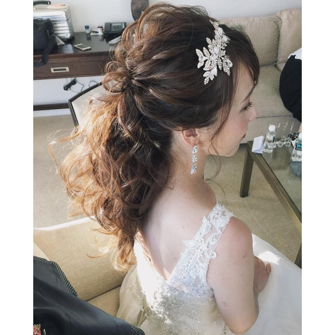Weddinghair トップアレンジ Hawaii Hawaiiwedding Ponytail