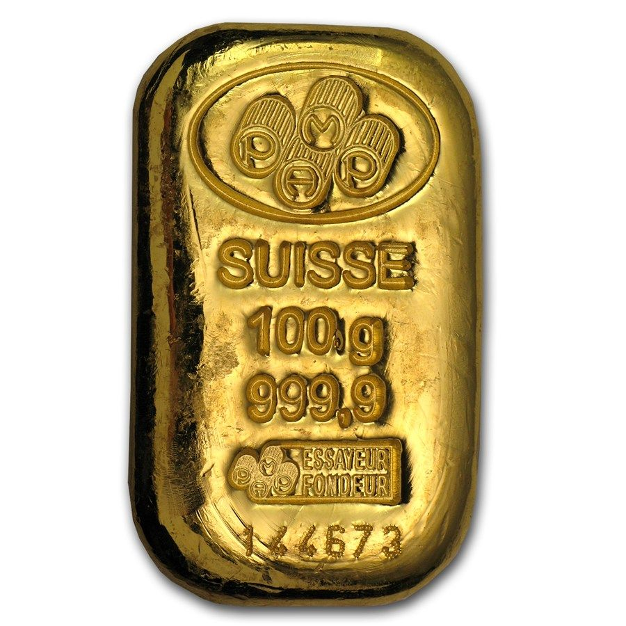 100 Gram Gold Bar Pamp Suisse Cast W Assay Gold Bullion Gold Bars For Sale Gold Bar