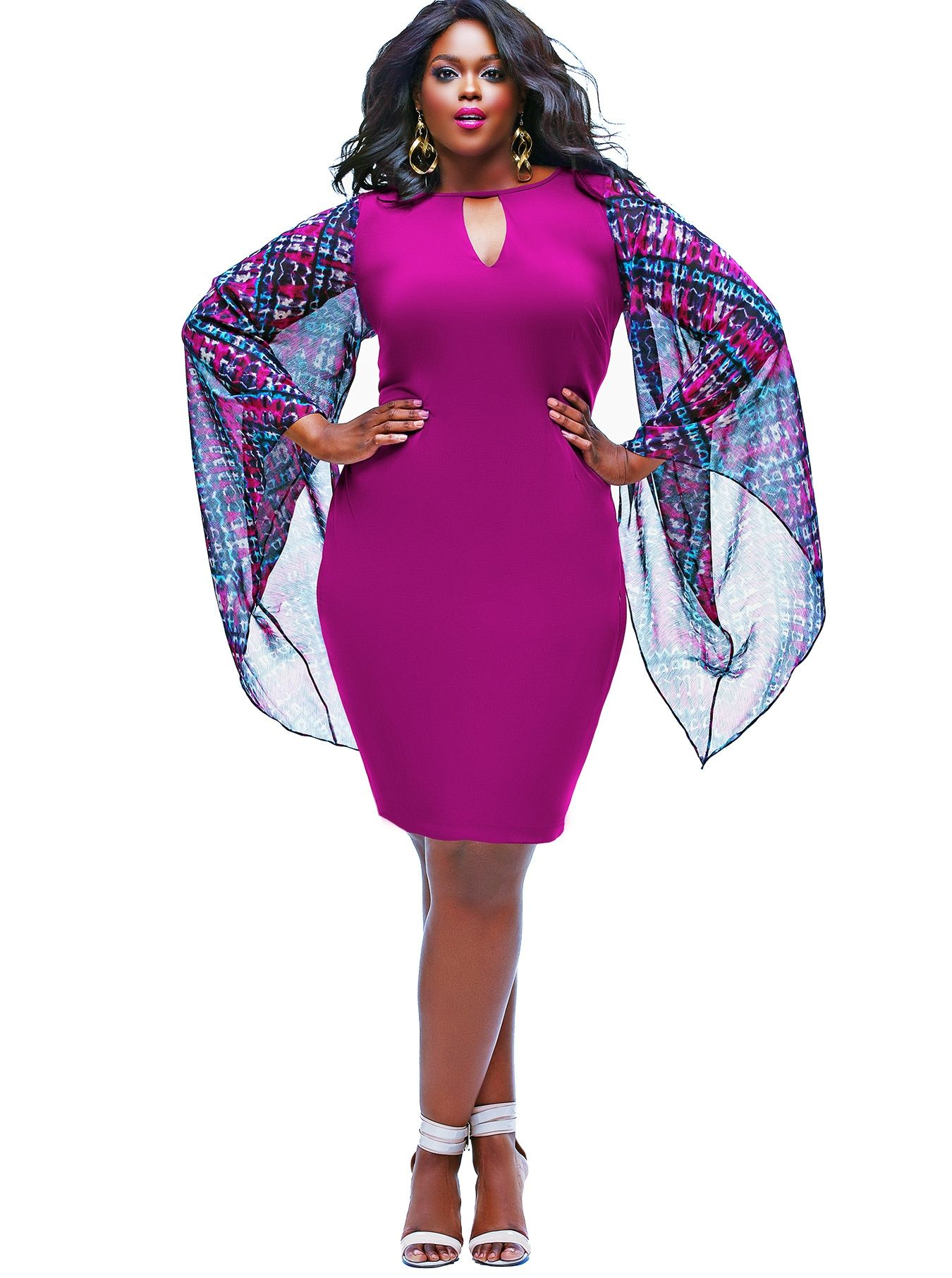 Bonito Vestidos De Talla Grande De Color Púrpura Para Bodas ...