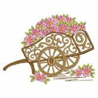 Floral Wheelbarrow - Ace Points   OregonPatchWorks