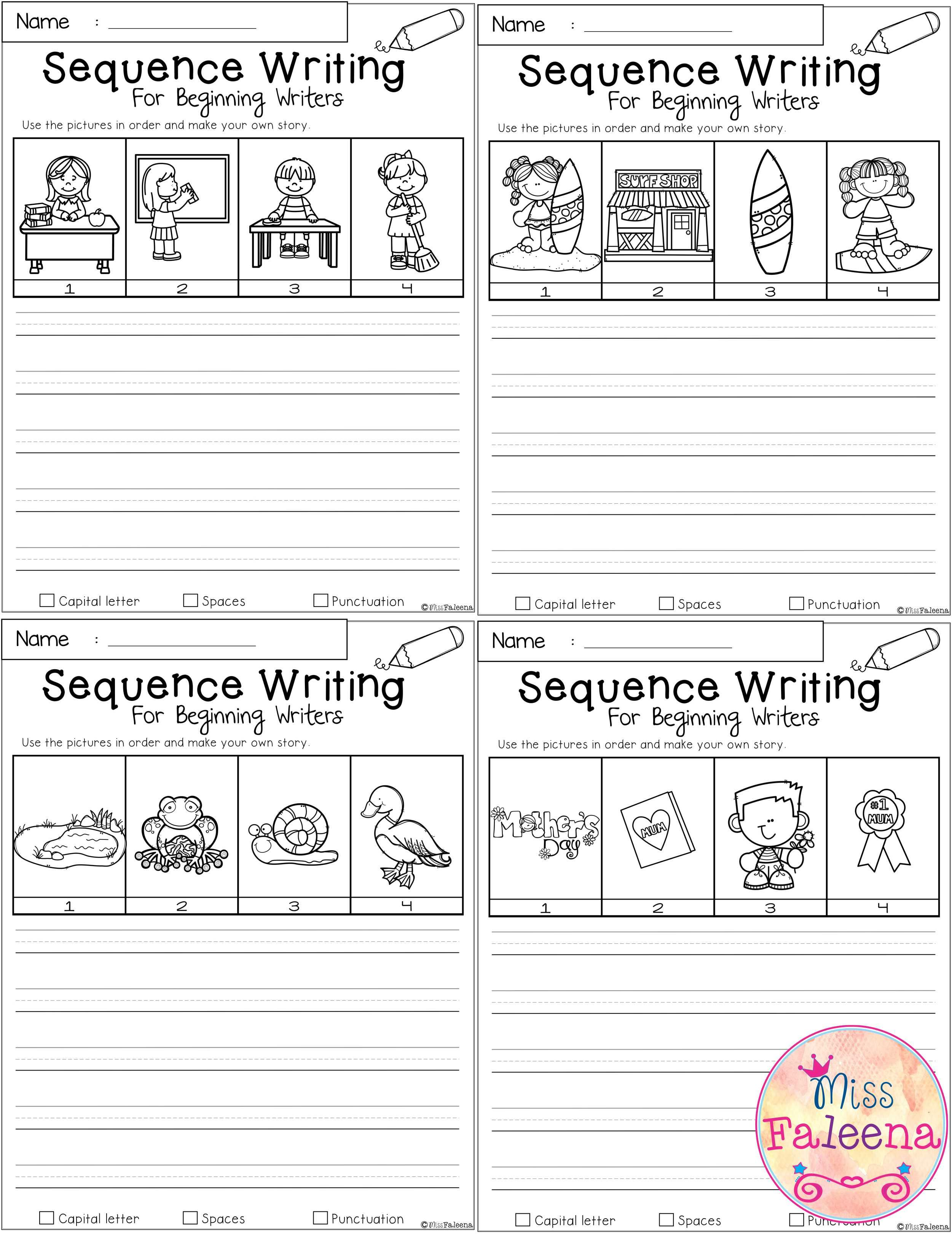 May Sequence Writing For Beginning Writers