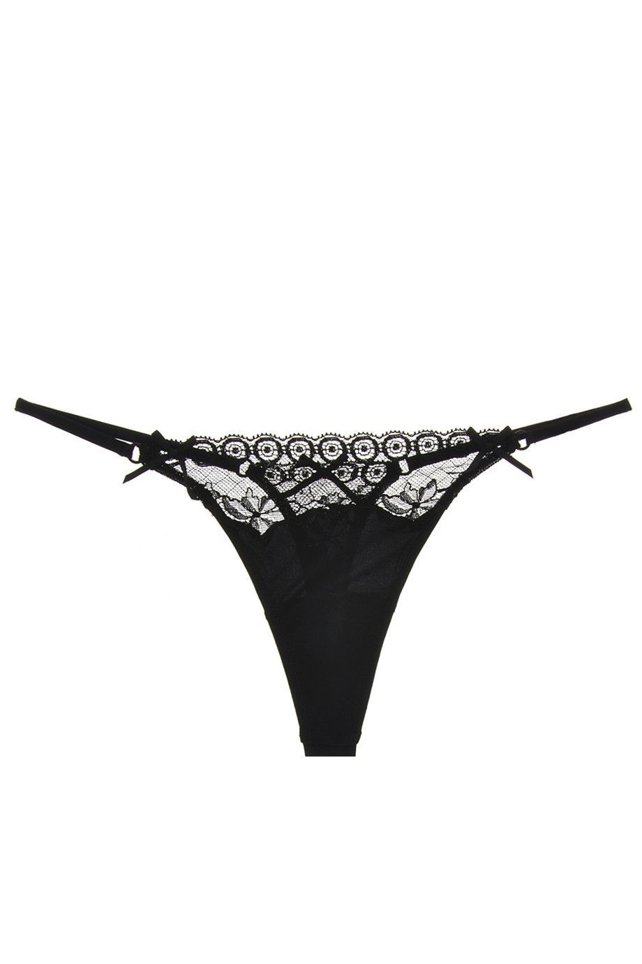 f247c0021bcaf COTTON CLUB VICTORIAN Lace Black Thong in 2019