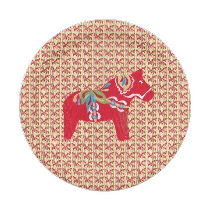 sc 1 st  Pinterest & Dala Horses Paper Plate
