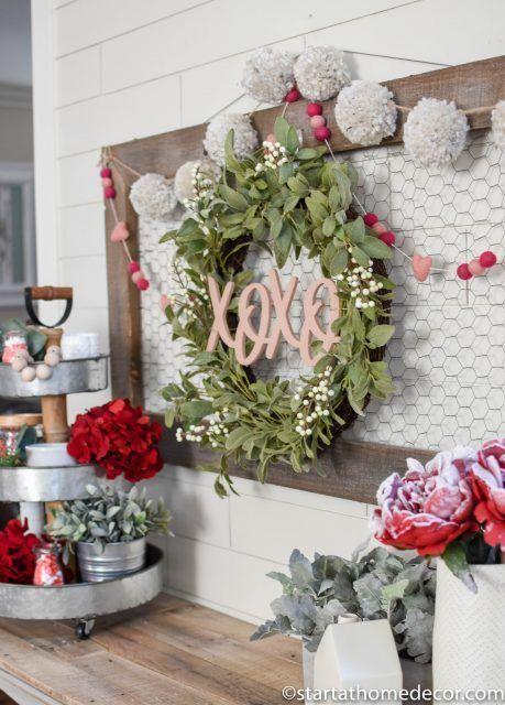 DIY Valentinstag Erste Schritte Beginnen Sie zu Hause Decor valentinedaywreaths … – Valentinstag