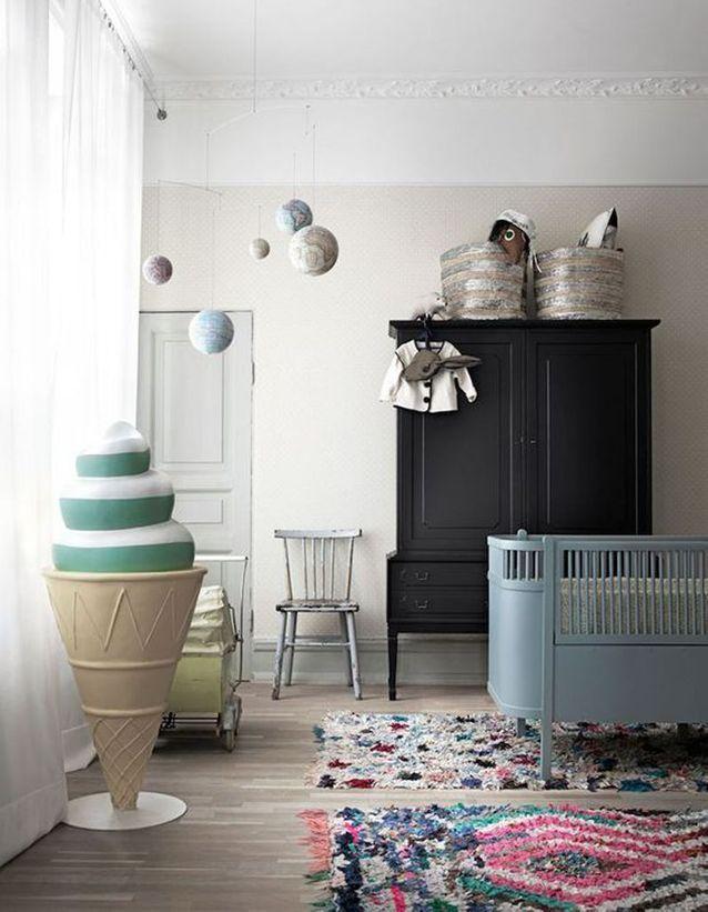 Chambre de bébé  25 idées qui changent du bleu pour un garçon