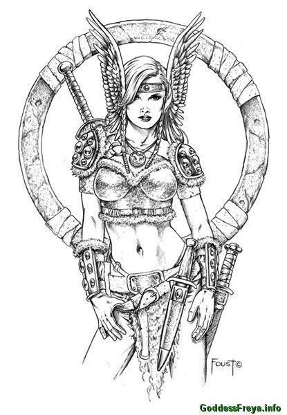 A Valkyrie And Headdress Com Imagens Desenhos Tatuagens