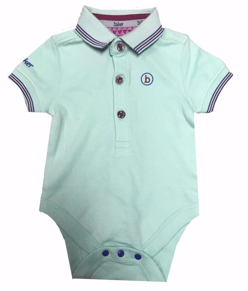 266ab3f182148e Ex Baker by Ted Baker Baby Boys Girls Polo Bodysuit Pale Green Newborn-18  Months