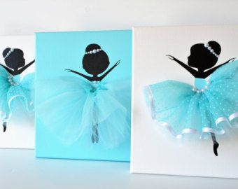 Ballerina Wall Art dancing ballerinas wall art. set of three dancing ballerinas