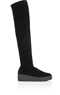 fa8409a24a7 ROBERT CLERGERIE Tinatu Stretch-Suede Over-The-Knee Boots.  robertclergerie