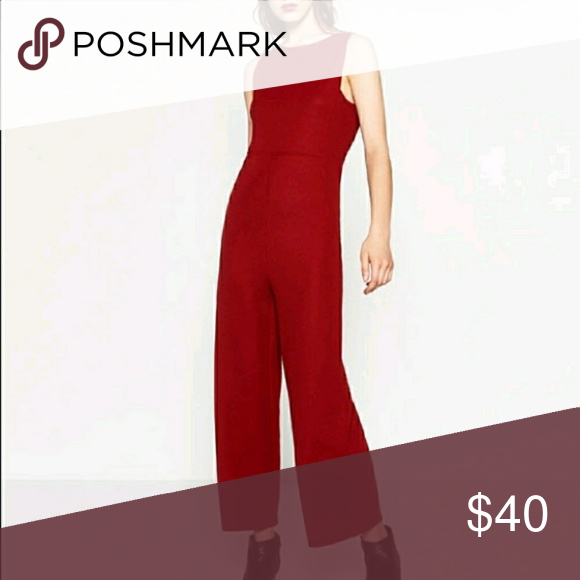 Textured jumpsuit from Zara.. Brand new never worn Still have tags but because I removed it so acknowledging that fact. True to picture.Wider legs but very streamline fit. Sleeveless, cropped jumpsuit. Zara Other