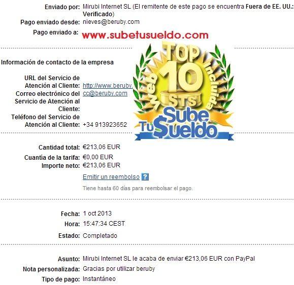38º Pago De Beruby Servicio De Atencion Al Cliente Dinero