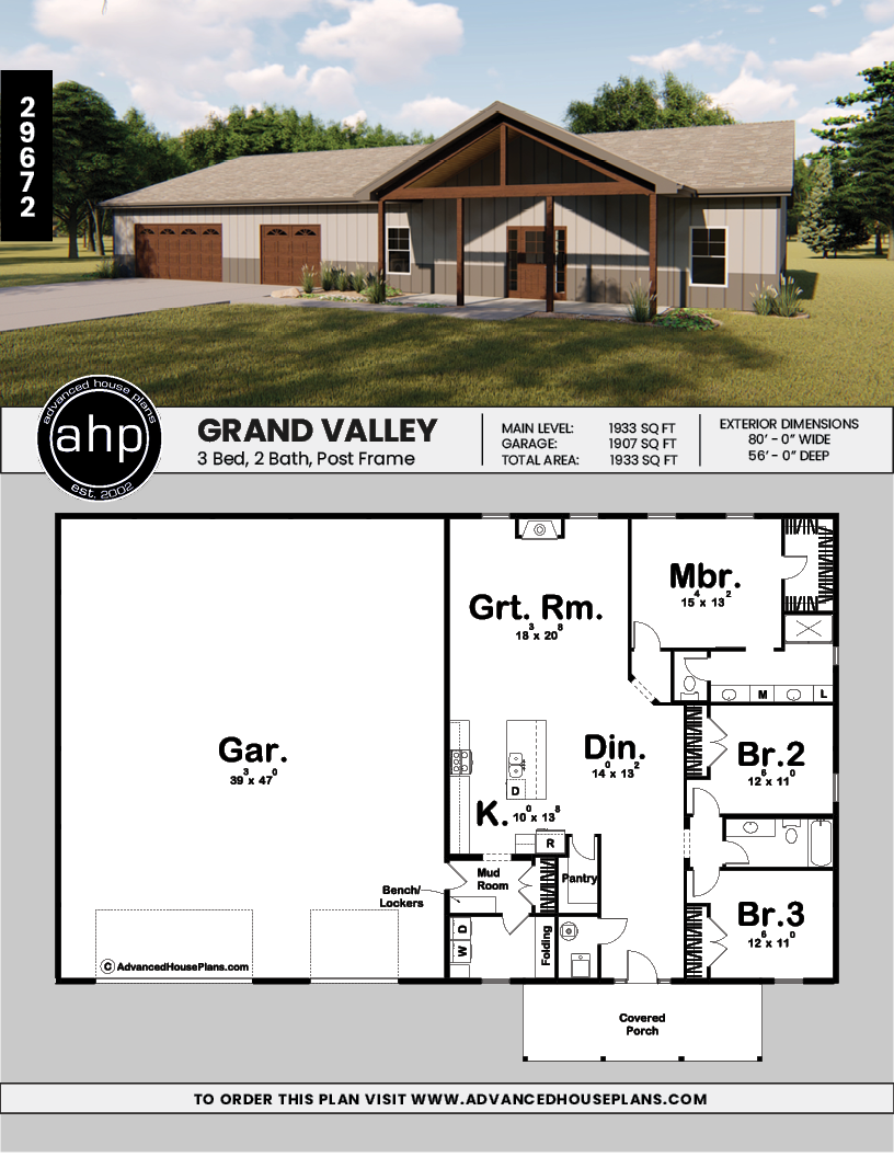 Post Frame Home Barndominium Plan Grand Valley Barn House Plans Barn Homes Floor Plans Pole Barn House Plans