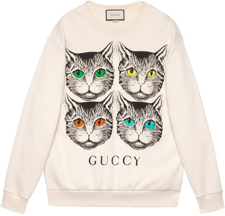 aea435df Gucci Mystic Cat print sweatshirt #gucci #ShopStyle #MyShopStyle click link  for more information