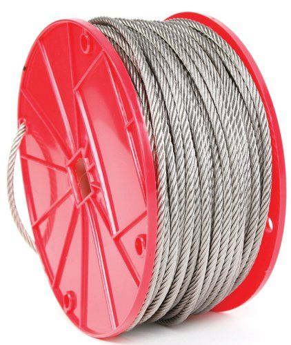 Koch 016211 Cable 7 By 19 Construction Trade Size 1 4 By 125 Feet Stainless Steel Stainless Steel Cable Steel Koch Industries