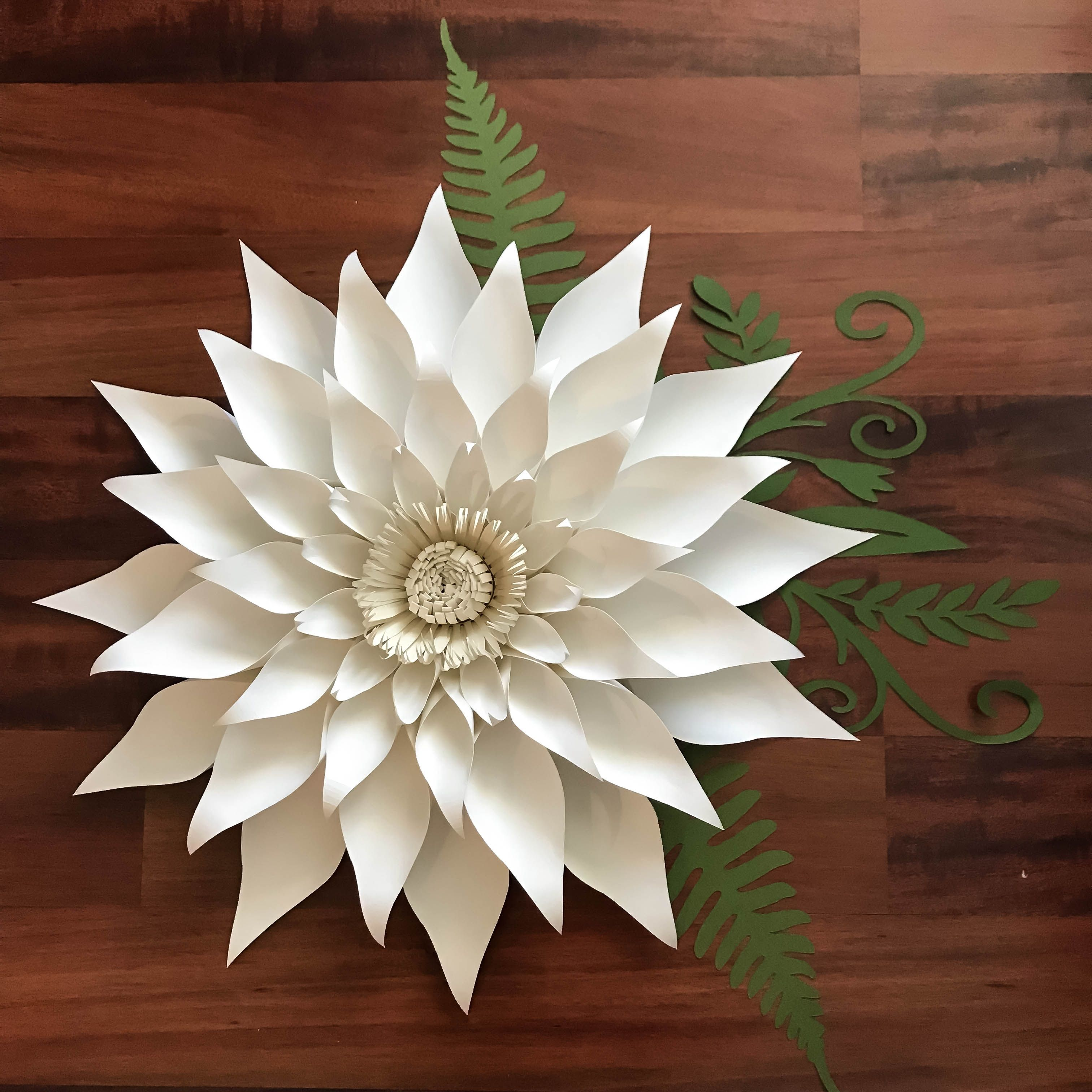 Paper Flowers Pdf Petal 89 Template Trace And Cut Files Diy Giant