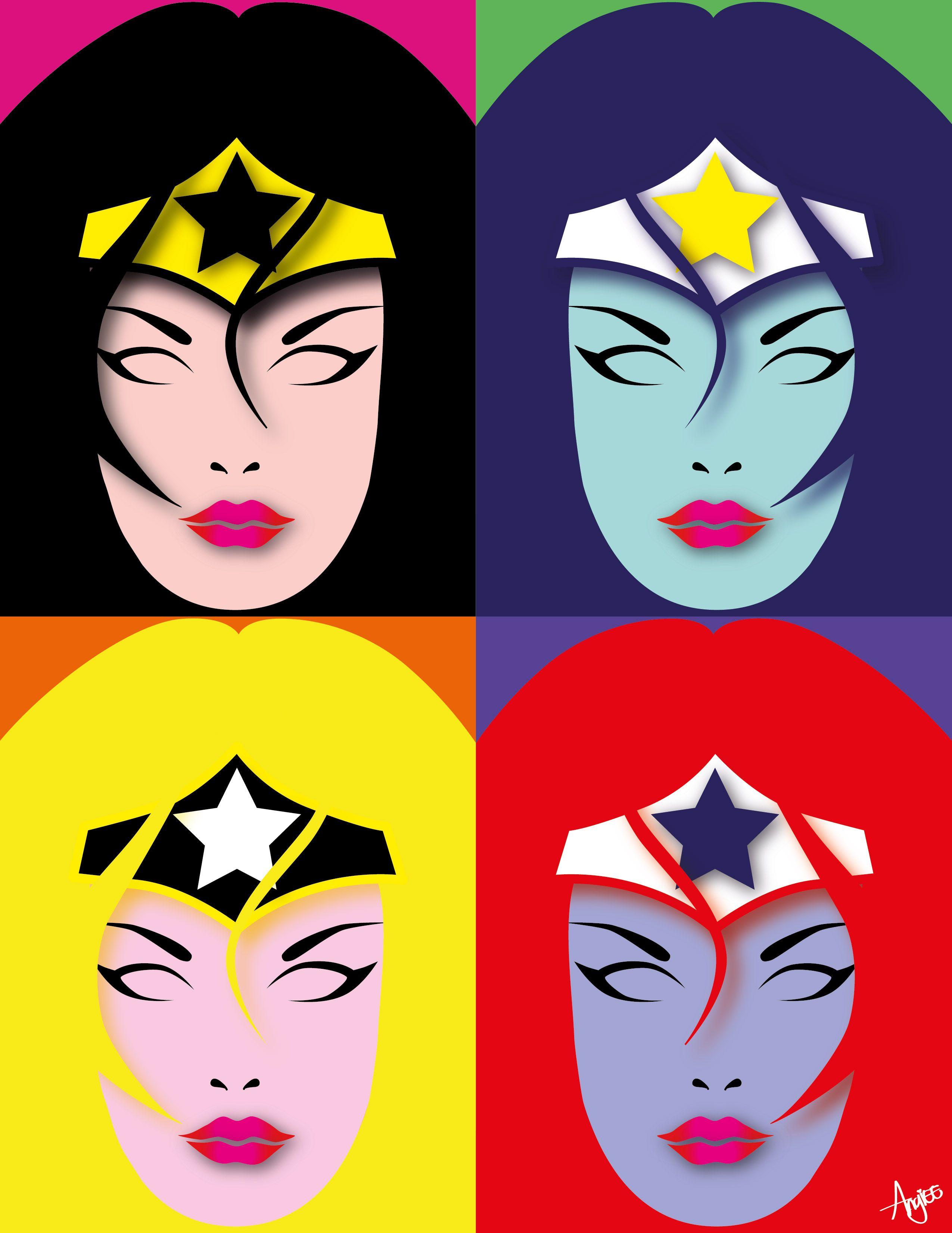 Fan Art wonder woman Pop Art #Diseño #Mujermaravilla #FanArt ...