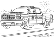 Police Truck Coloring Page Cars Coloring Pages Truck Coloring Pages Monster Truck Coloring Pages