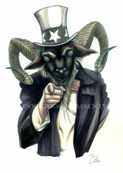 812c9dba7 Goat Lord wants YOU to sell your Soul for America! Baphomet Sam ...