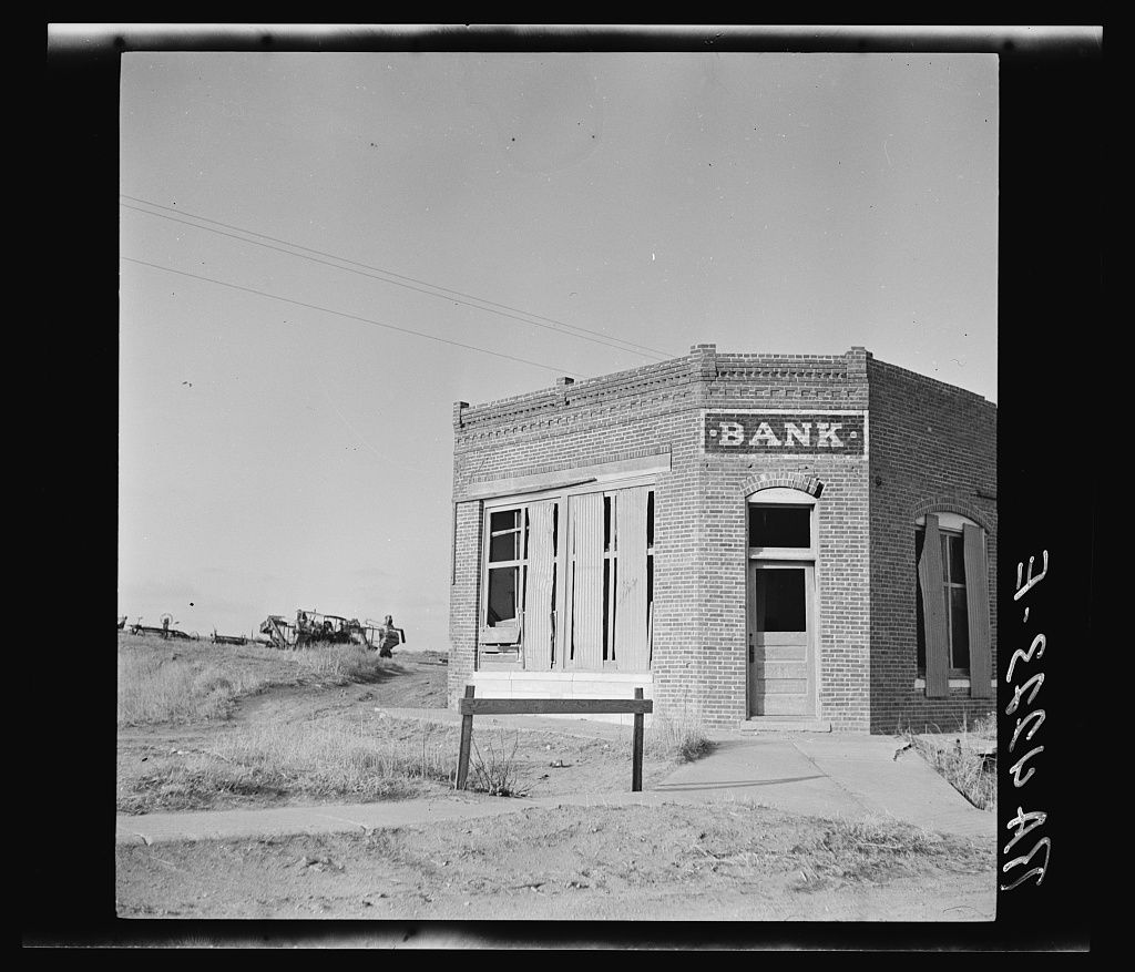 Bank That Failed. Kansas 1936
