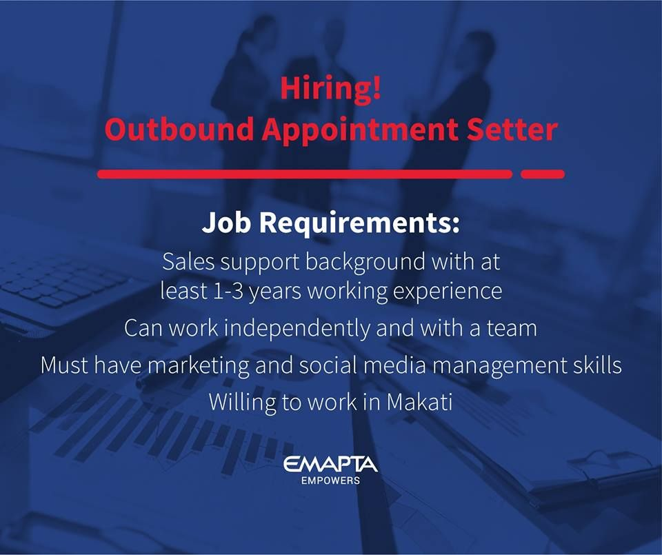 Experienced outbound appointment setter needed email your