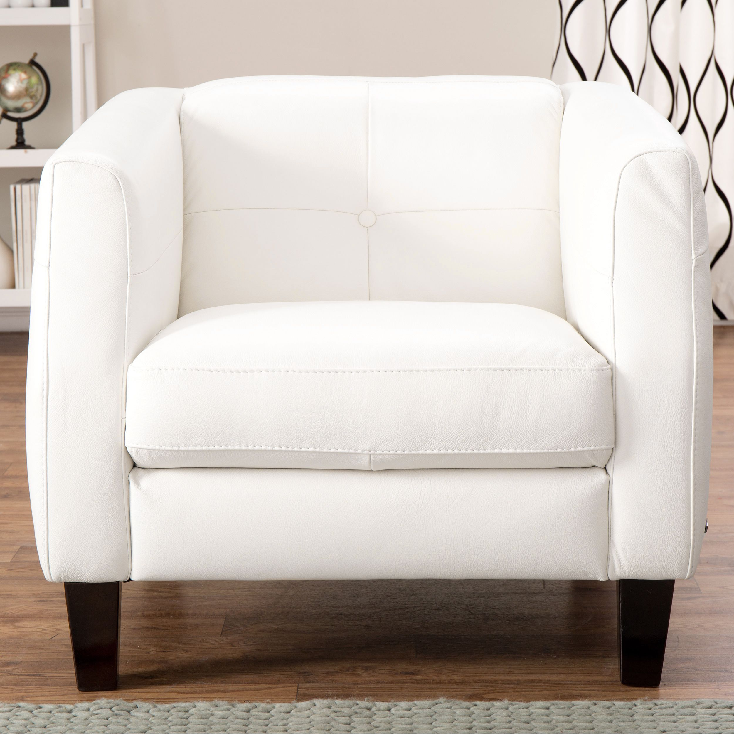 Overstock Com Online Shopping Bedding Furniture Electronics Jewelry Clothing More White Leather Armchair Leather Armchair White Leather Chair