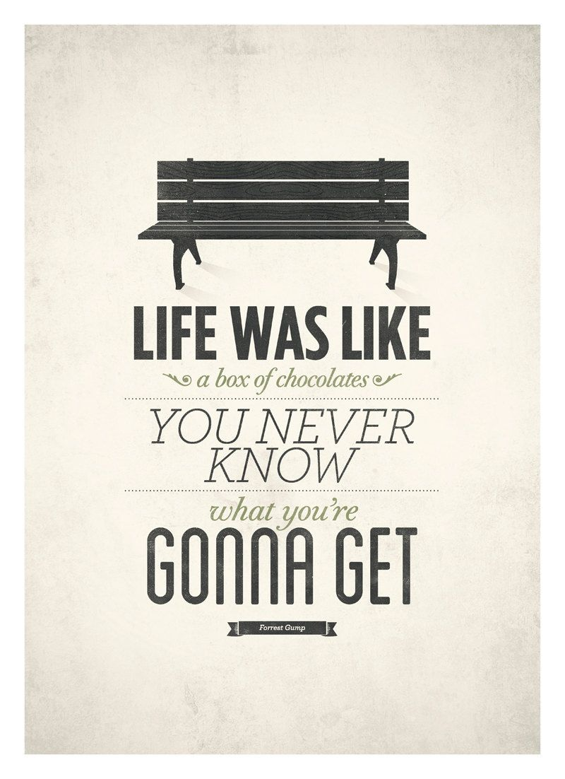 Life Quotes Posters Forrest Gump Life Quote Poster  Life Was Like A Box Of Chocolates