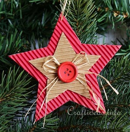 Corrugated Cardboard Christmas Star Ornament 3 Joulu Pinterest