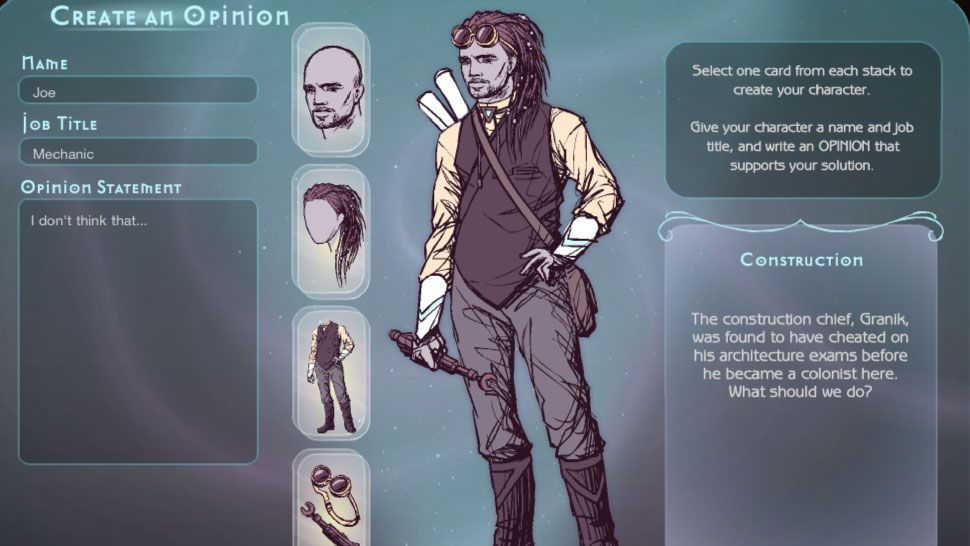 You Can Create Your Own Characters In Quandary Now Available On - Design your own character games