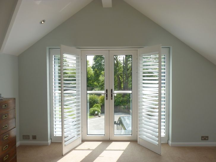 plantation shutters on french doors - Google Search   French Door ...