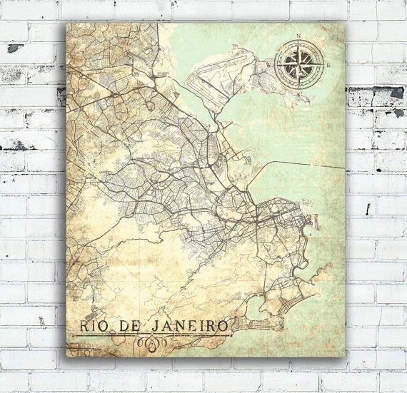 Rio de janeiro canvas print rj brasil vintage map rio de janeiro rio de janeiro canvas print rj brasil vintage map rio de janeiro brazil city map vintage gumiabroncs Images