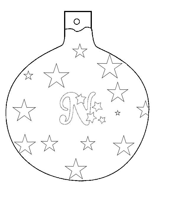 Christmas Ornaments Cutouts Christmas Ball Ornament To Color And