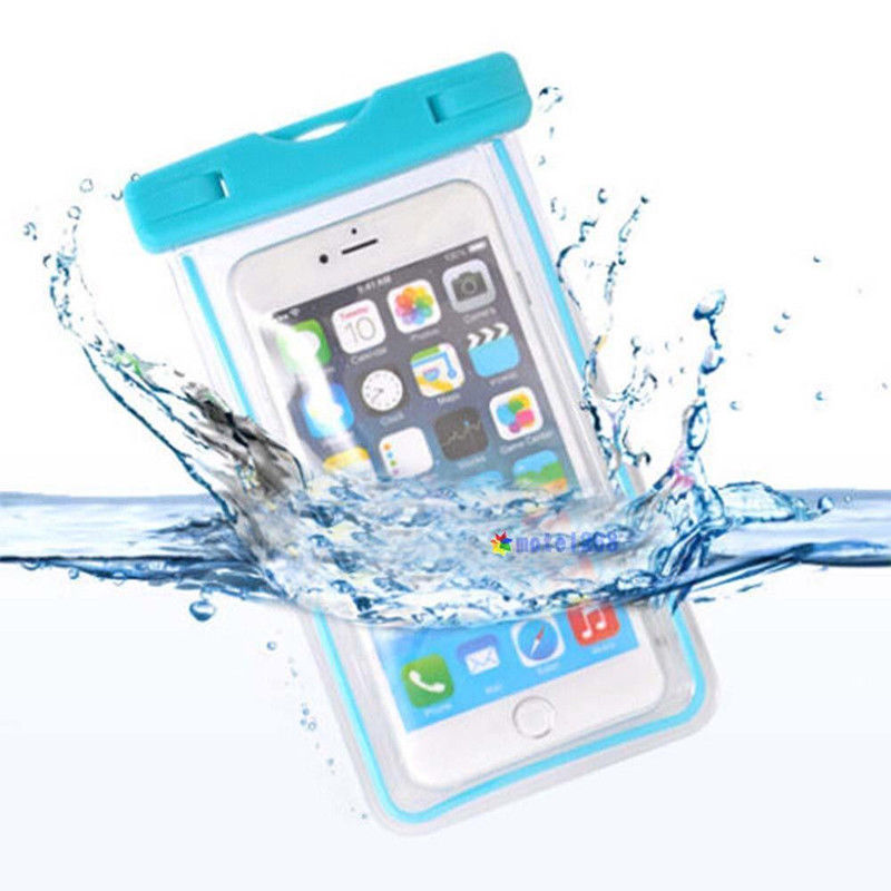 Luminous Glow Waterproof Underwater Pouch Bag Pack Dry Case Cover For Cell Phone