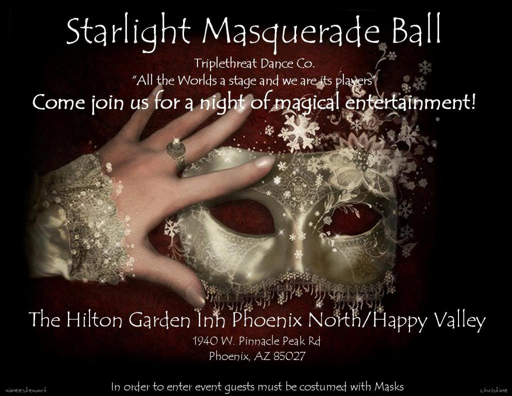 Starlight Masquerade Ball Image. Invitation wording: \