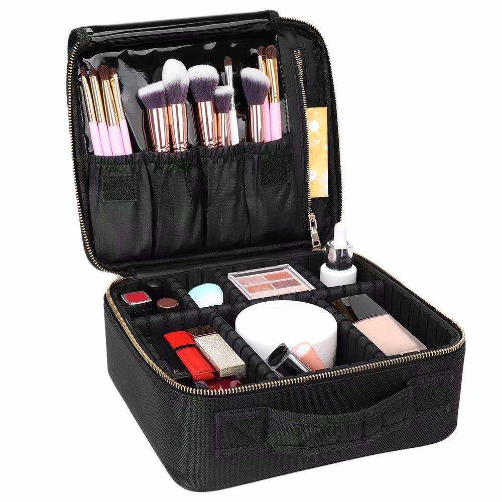 Cwatonfozk Soft Makeup Bag Makeup Case Black Walmart Com In 2020 Makeup Bag Organization Professional Makeup Bag Makeup Bag