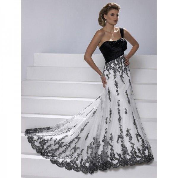 Unusual-Black-and-White-Wedding-Dresses-for-Gothic-Wedding   WEDDING ...