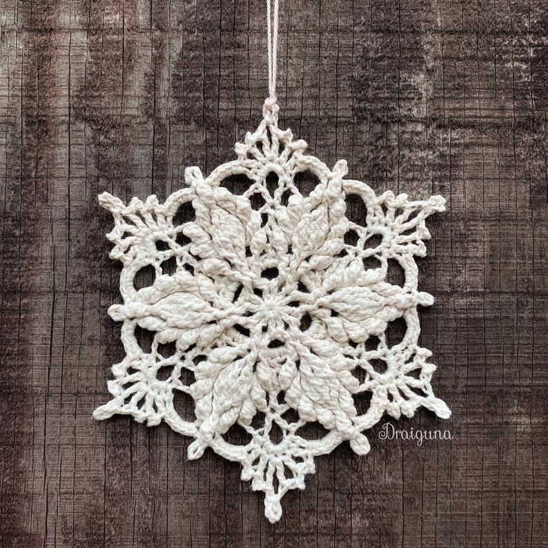Inscribed Snowflake Crochet Pattern Pdf Digital Download In 2020 Snowflake Pattern Crochet Christmas Snowflakes Crochet Patterns