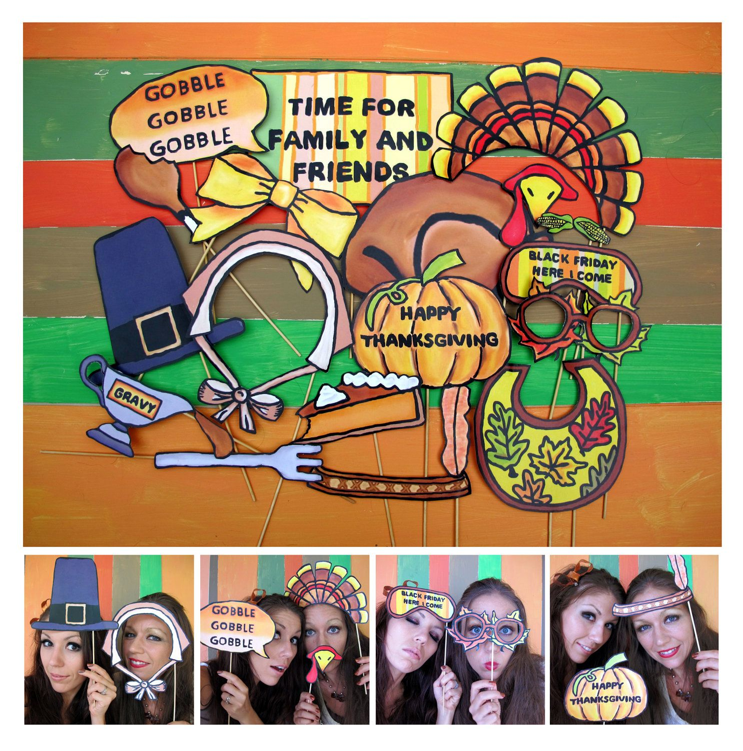 Friends Thanksgiving Photo Booth Props