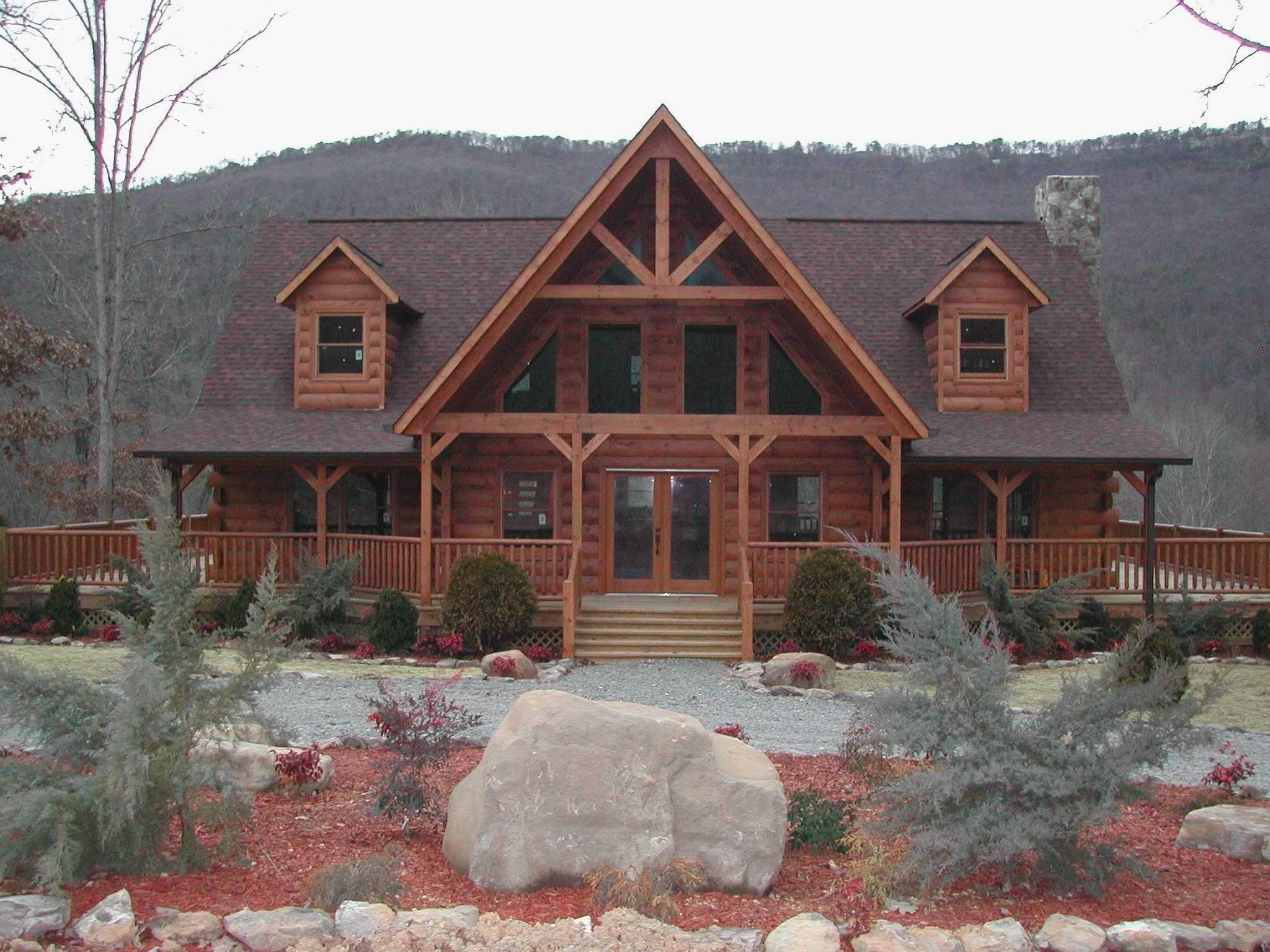 Fresh Wrap Around Porch Rustic Farmhouse Log Home Designs Log Homes Exterior Log Homes