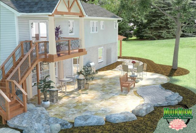 Walk Out Patio Designs Walkout Basement Home Plans At