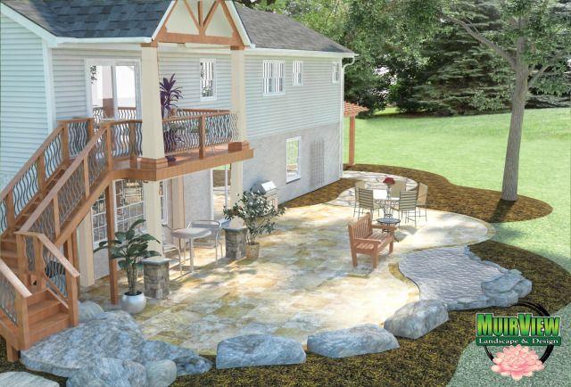 walk out patio designs | walkout basement home plans at dream home ... - Patio Design Plans